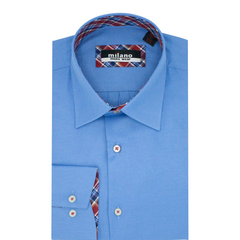 MILANO SOLID SPORT SHIRT BLUE