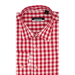 MILANO PLAID SPORT SHIRT RED