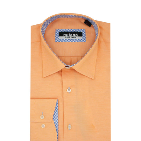 MILANO SOLID SPORT SHIRT ORANGE