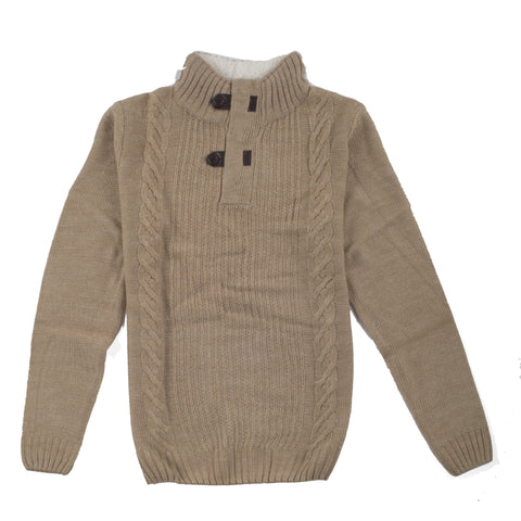 CREW NECK SOFT COLLAR BEIGE