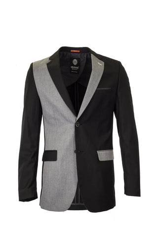 BLACK / GREY 2 SIDES BLAZER