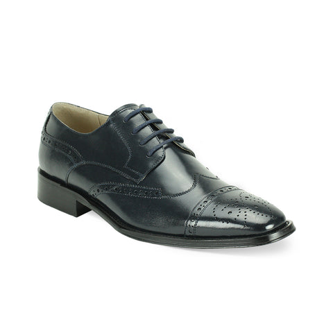 GIOVANNI LEATHER SHOES BLACK