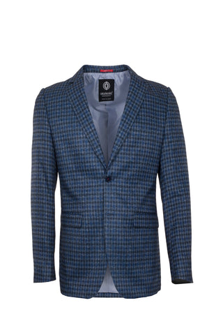 CHECKERS BLUE/GREY BLAZER