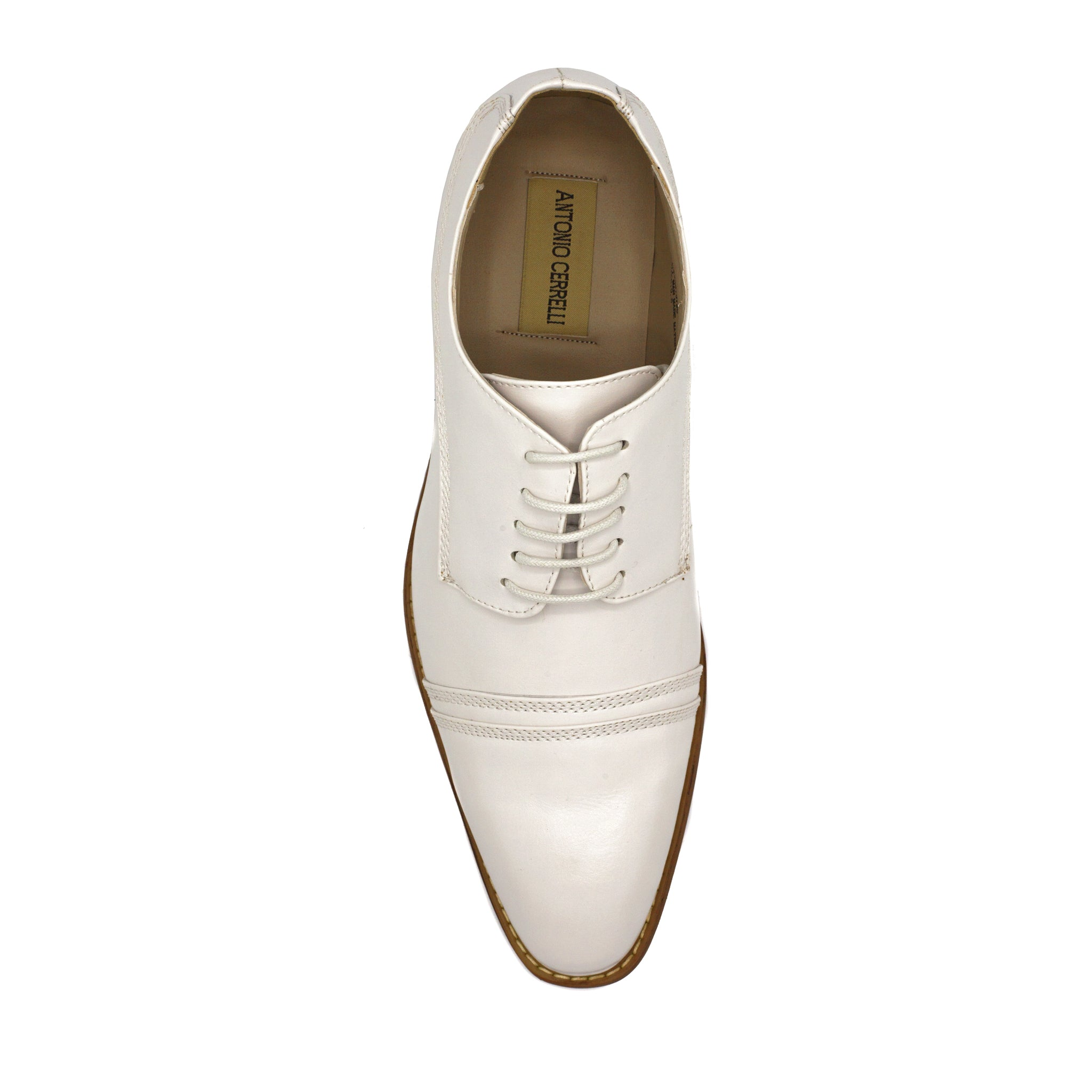 ANTONIO CERRELLI WHITE DRESS SHOES