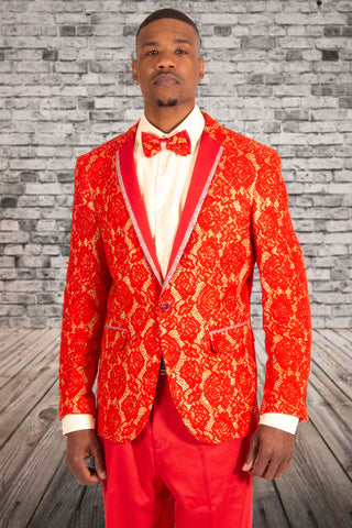 PRONTI JACKET W/BOWTIE RED