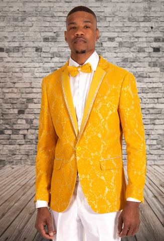 PRONTI JACKET W/BOWTIE GOLD