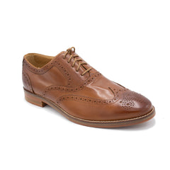 CAMBRIDGE WING OX BY COLE HAAN BRITISH TAN