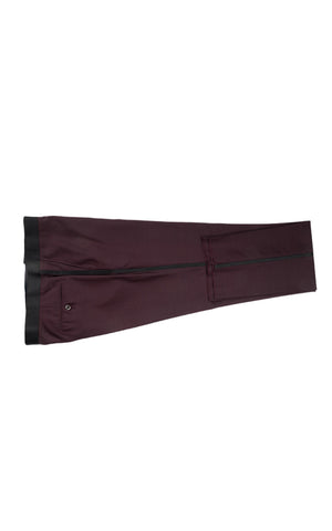 SIENNA SLIM FIT BURGUNDY TUXEDO BY TIGLIO