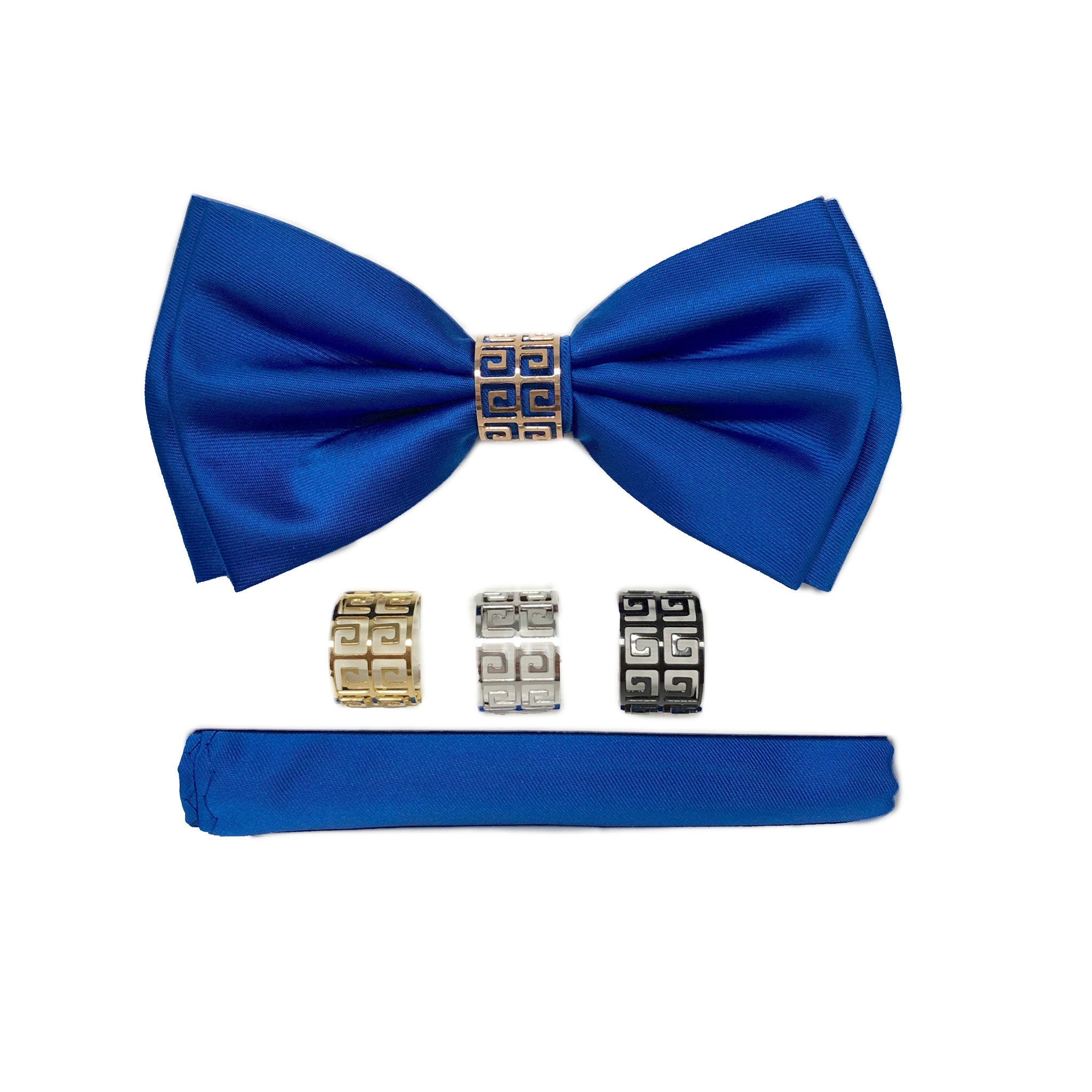 BQ ROYAL BLUE BOWTIE SET
