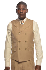SANGIOVESSI TAN VESTED SUIT BY TIGLIO
