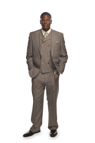 SANGIOVESSI GRAY VESTED SUIT BY TIGLIO