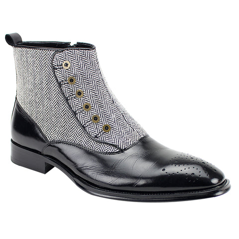 EDISON/GIOVANNI LEATHER BOOT / BLACK
