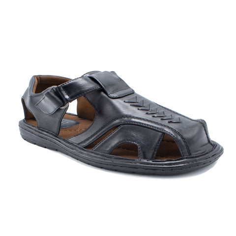 VEEKO TRIANGLE DESIGN  SANDAL BLACK