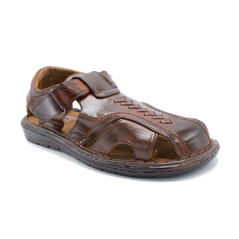 VEEKO TRIANGLE DESIGN  SANDAL BROWN