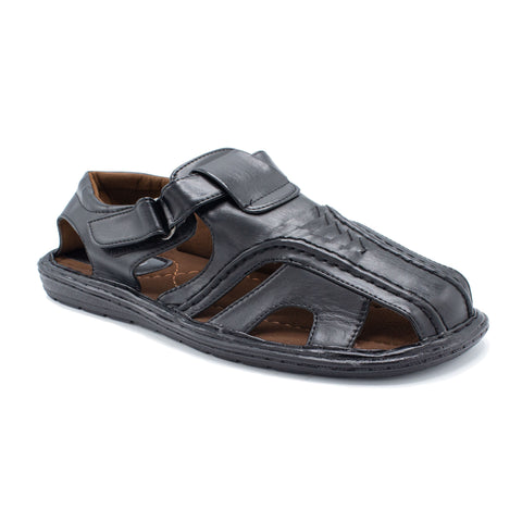 VEEKO LAYERD TRIANGLE DESIGN SANDAL BLACK