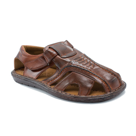 VEEKO LAYERD TRIANGLE DESIGN SANDAL BROWN