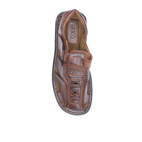 VEEKO SQUARE DESIGN SANDAL BROWN