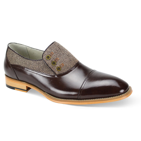 GINO / GIOVANNI LEATHER SHOES CH BROWN