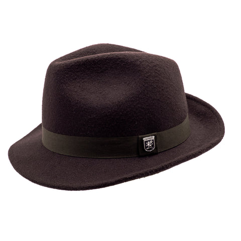 STACY ADAMS CHOC BROWN HAT