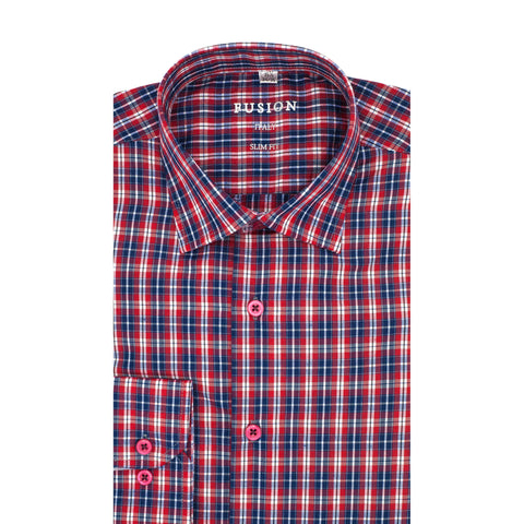 FUSION SPORT SHIRT BLUE/RED