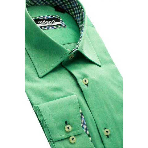 MILANO SOLID SPORT SHIRT GREEN