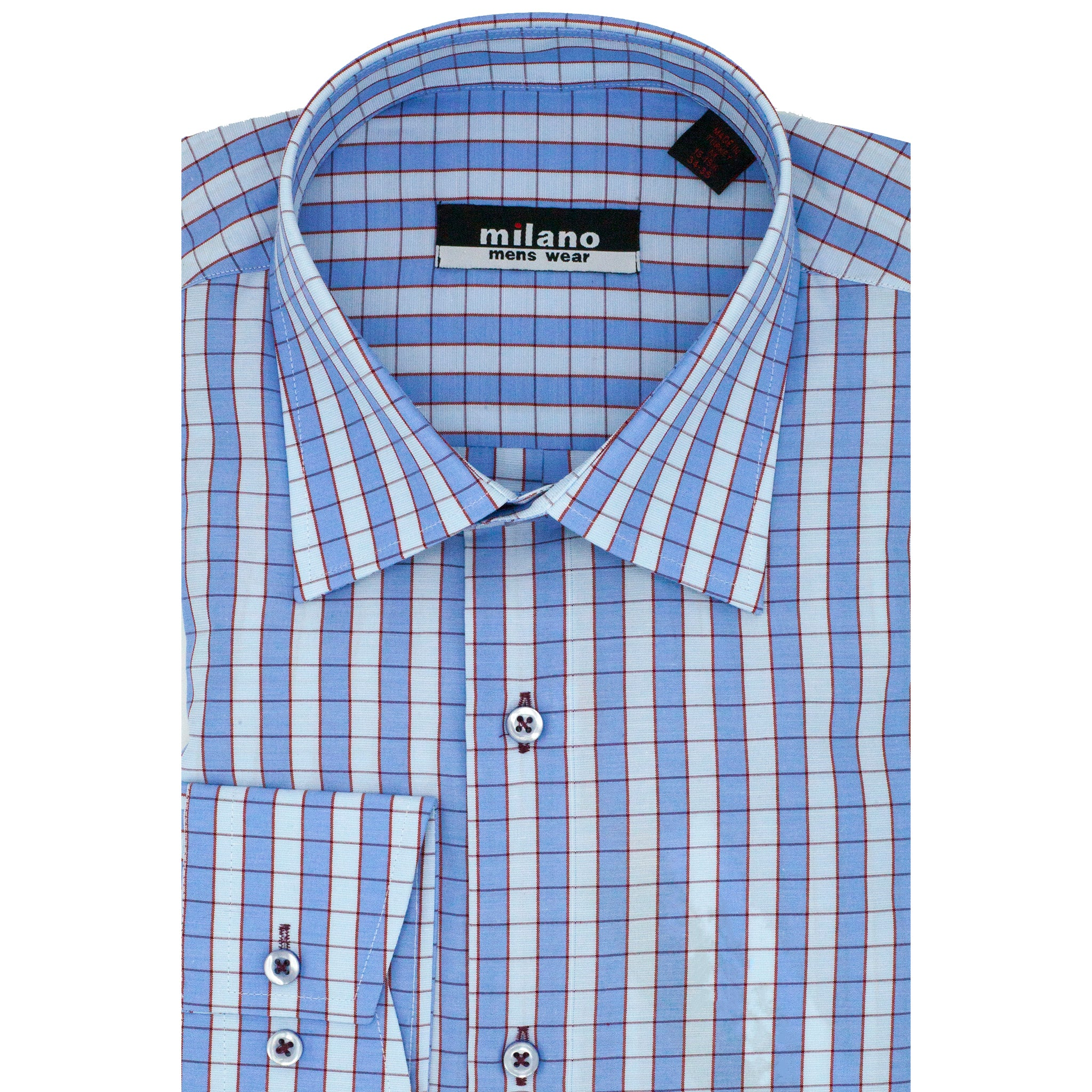 MILANO PLAID SPORT SHIRT BLUE