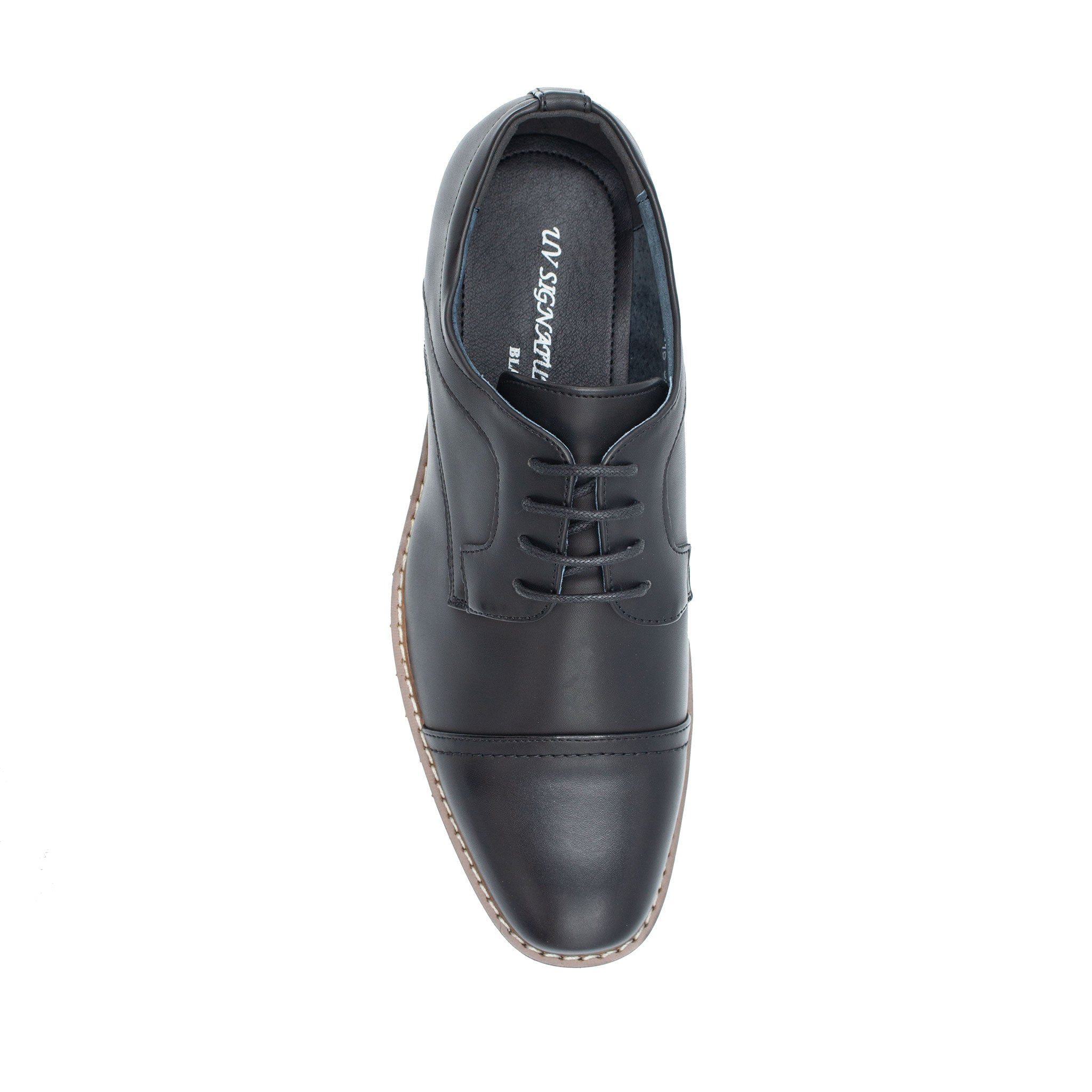 UV SIGNATURE ROUND TOE LACE UP BLACK