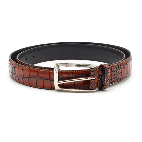 STACY ADAMS BELT COGNAC