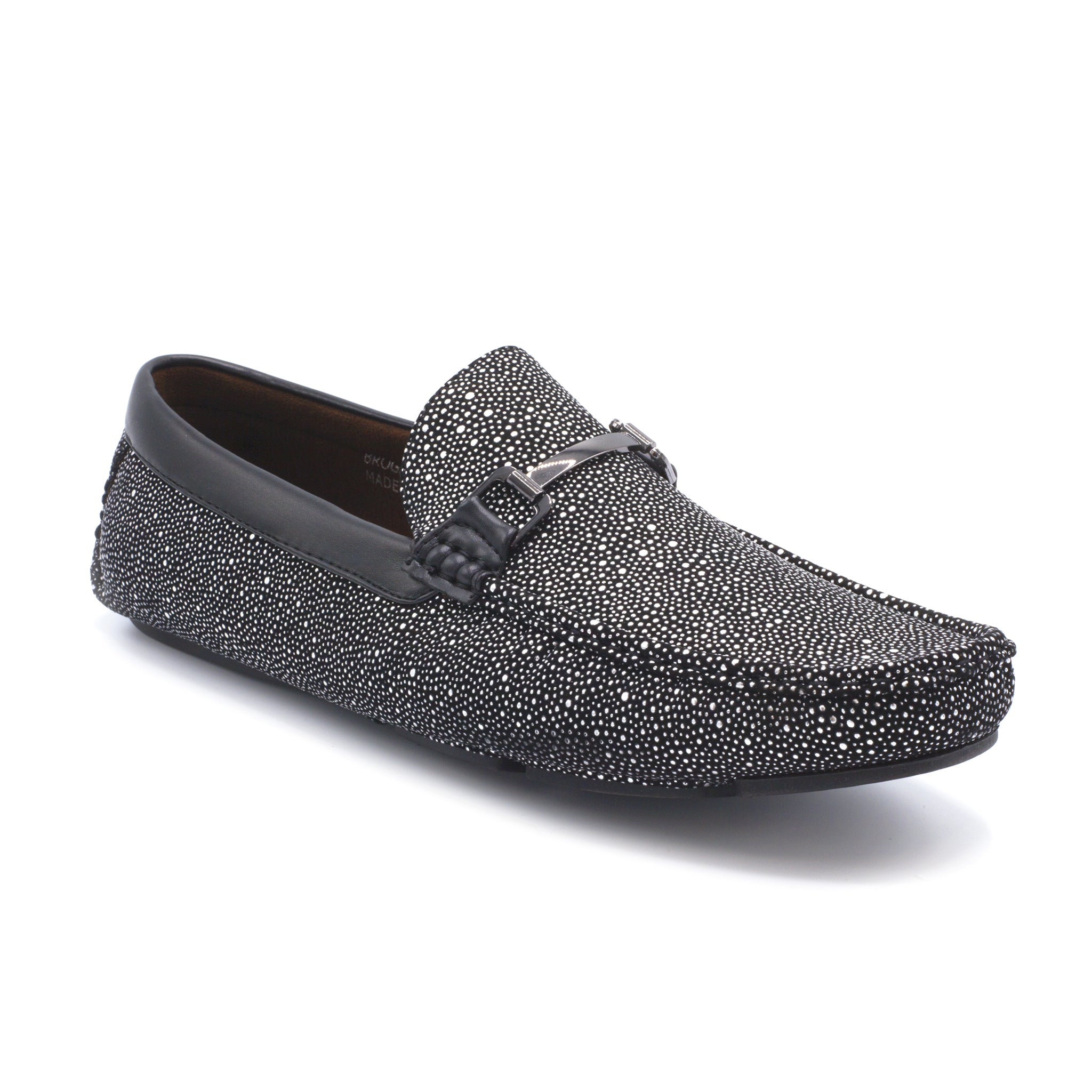 BROGAN SILVER SLIP ON CASUAL SHOES