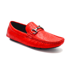 BURTON RED SLIP ON CASUAL SHOES