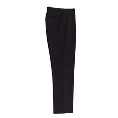 CLASSIC FIT FLAT FRONT DRESS PANT / CHARCOAL
