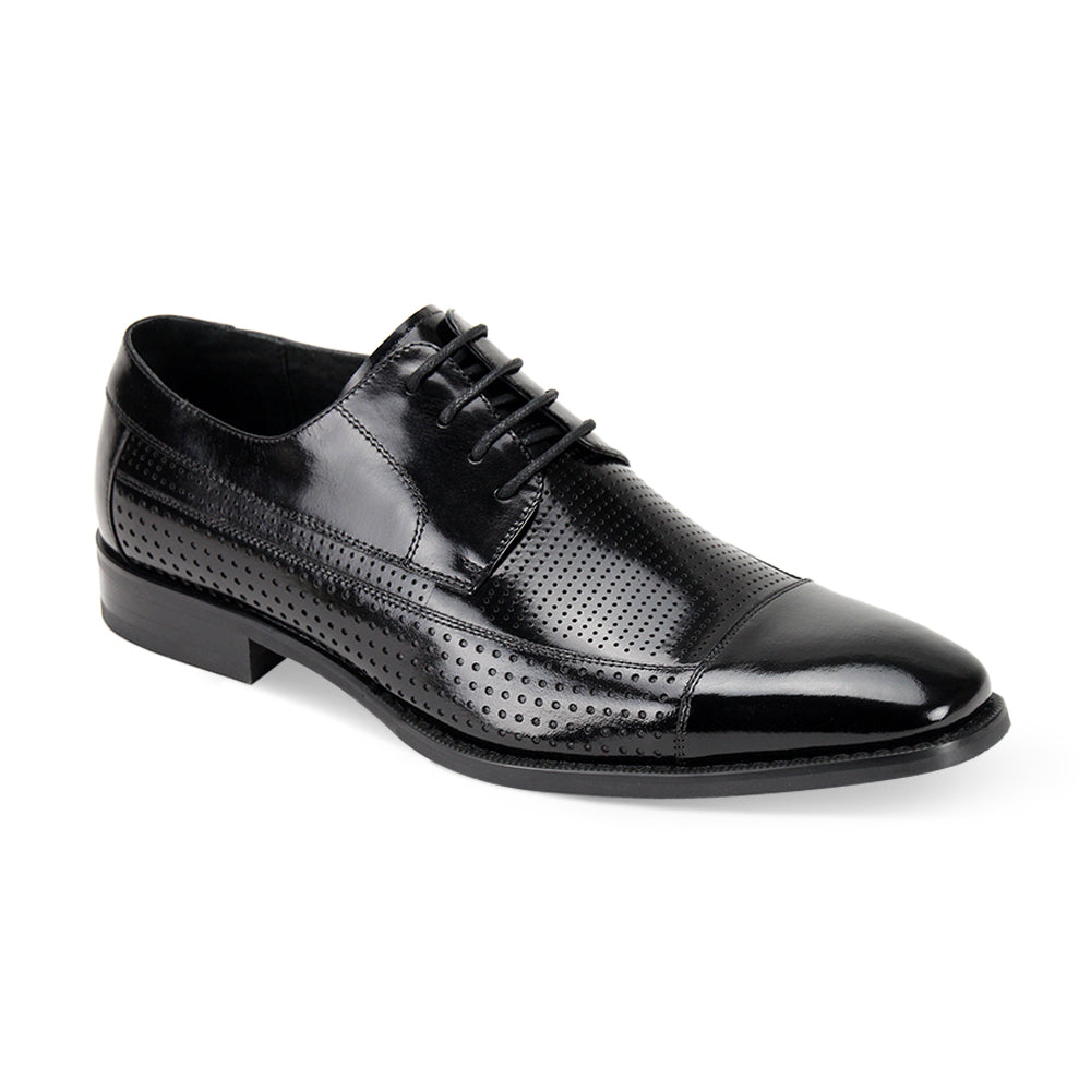 DIEGO / GIOVANNI LEATHER SHOES BLACK