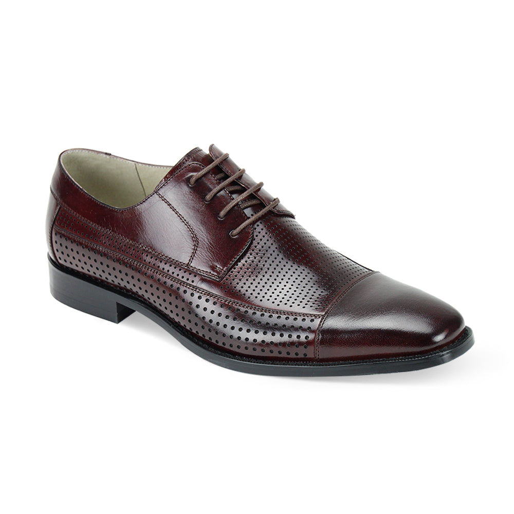 DIEGO / GIOVANNI LEATHER SHOES BURGUNDY