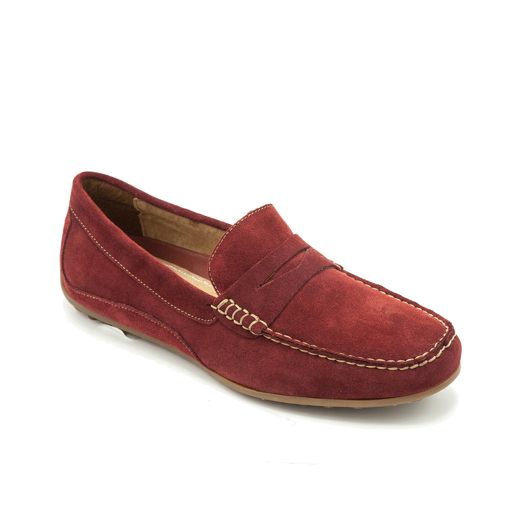 FLORSHEIM /OVAL MOC TOE PENNY LOAFER - RED