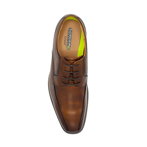 FLORSHEIM /HEIGHTS BIKE TOE OXFORD - COGN