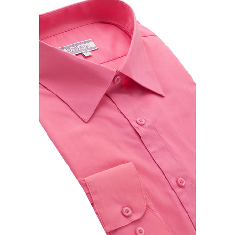 STEFANO SOLID DRESS SHIRT FUCHSIA