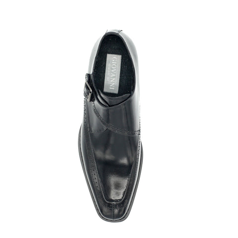 AMATO LEATHER MONK STRAP BLACK