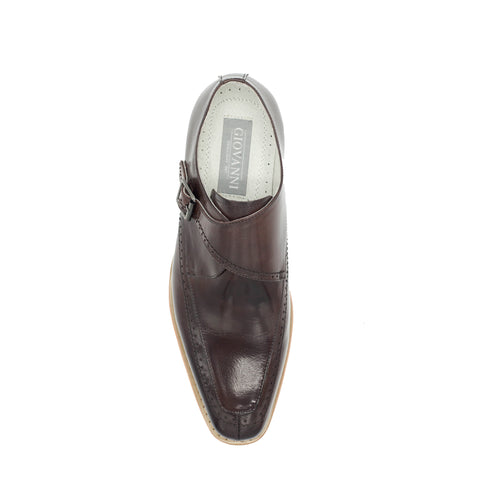 AMATO LEATHER MONK STRAP - CHOC