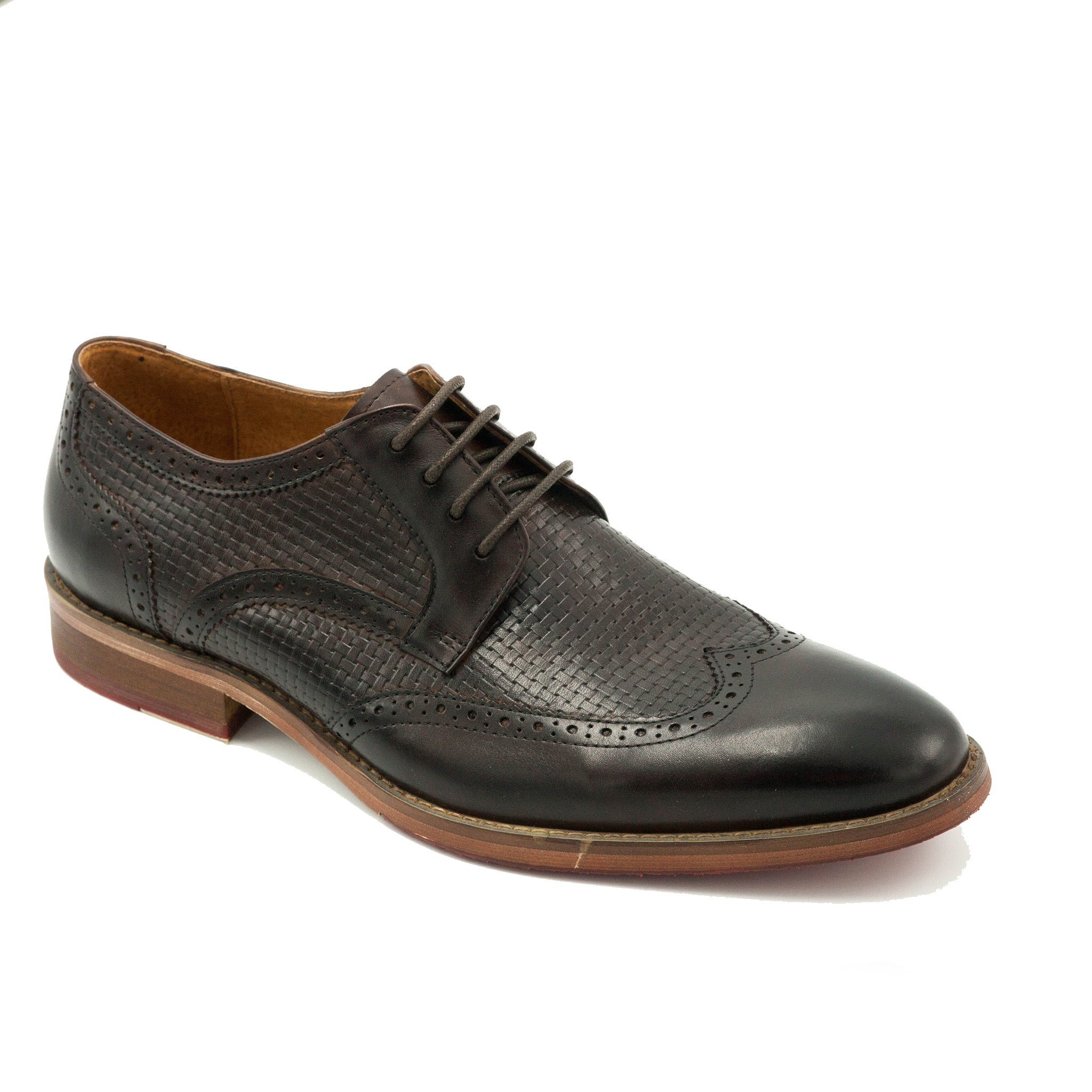 CARLTON LACE UP WING TIP CHOC