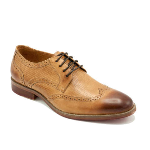 CARLTON LACE-UP WING TIP  LATTE
