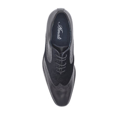 GREYSON BLACK WING TIP DRESS SHOES