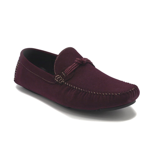 KNOTTER CASUAL SHOES BURGUNDY