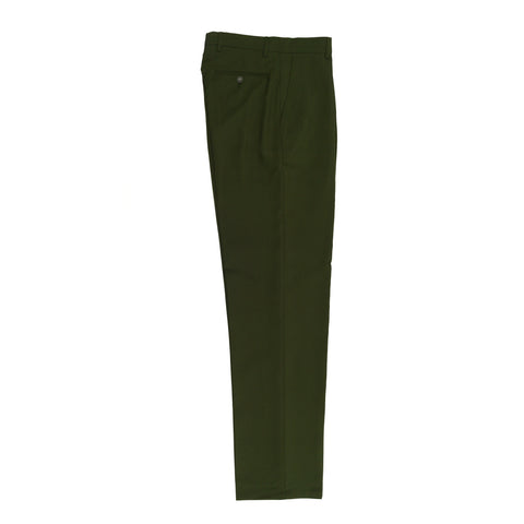 CLASSIC FIT FLAT FRONT DRESS PANT / OLIVE