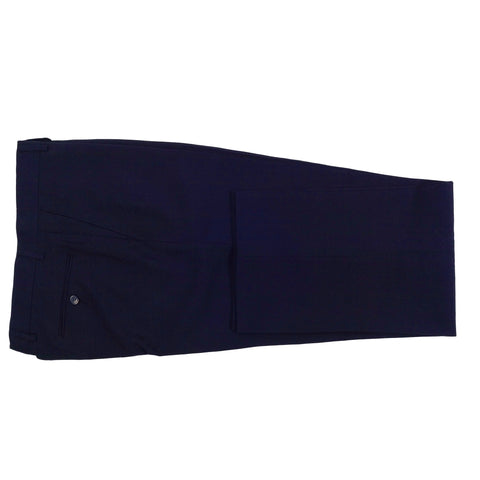 CLASSIC FIT FLAT FRONT DRESS PANT / NAVY