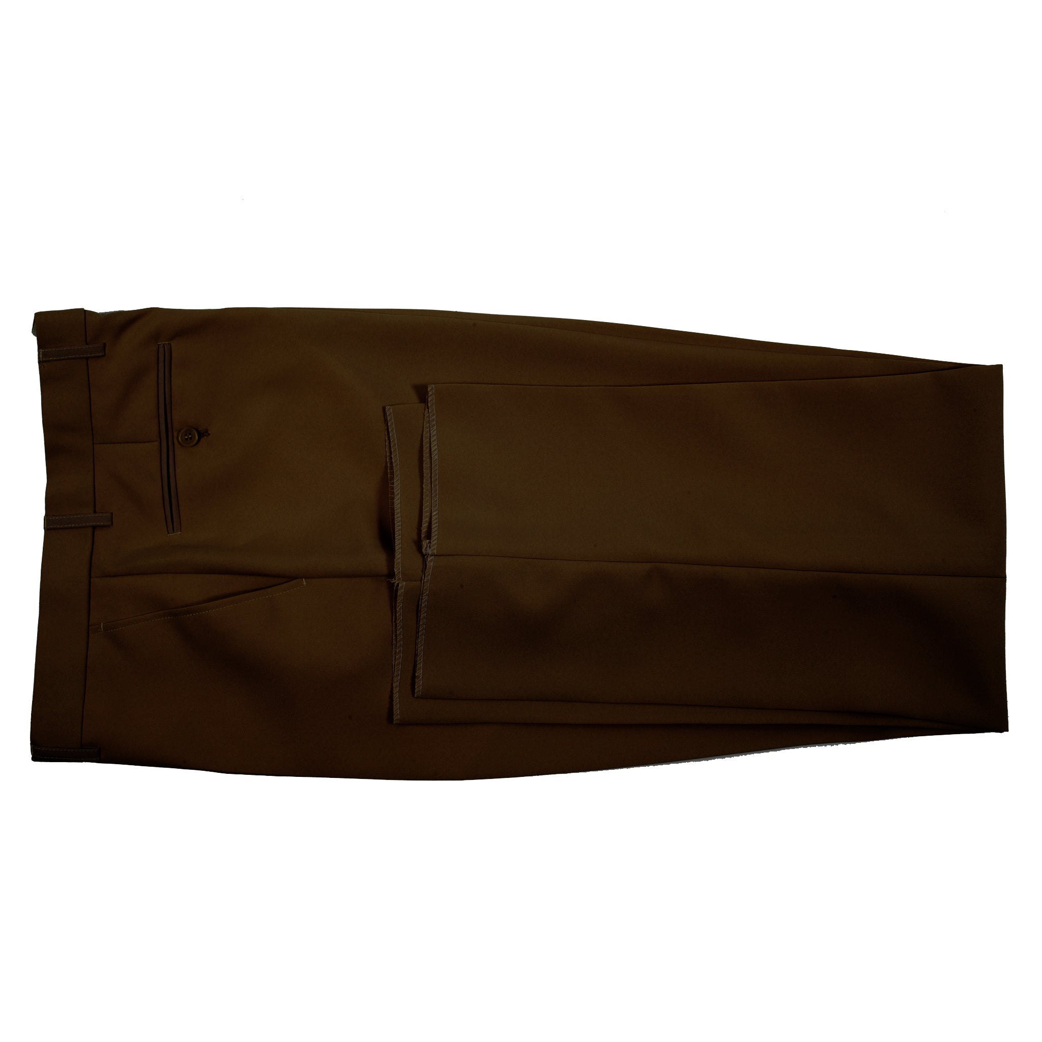 CLASSIC FIT FLAT FRONT DRESS PANT / BROWN