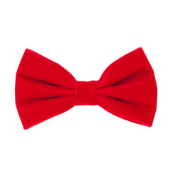 BQ VELVET BOWTIE SET RED