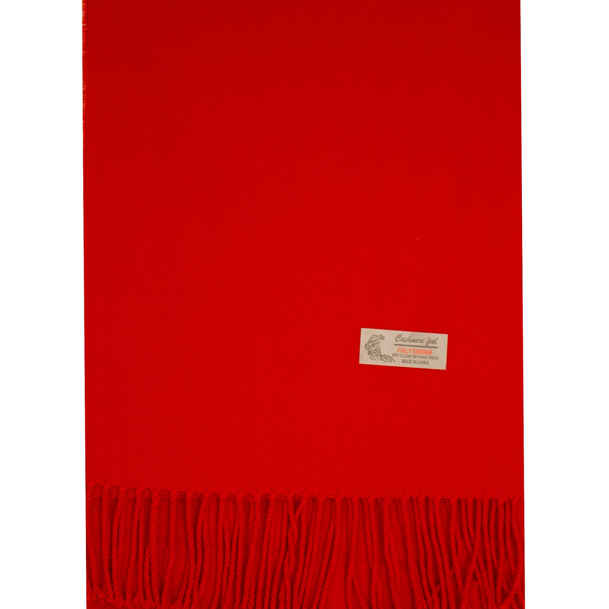 ITALY DESIGN CASHMERE FEEL RED