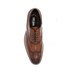 STACY ADAMS / DUNBAR WINGTIP OXFORD -COGN