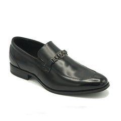 STACY ADAMS / SPENCER MOC TOE BIT SLIP ON-BLACK