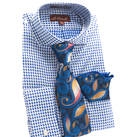 ST. PATRICK SHIRT, TIE & POCKET SQUARE SET / BLUE